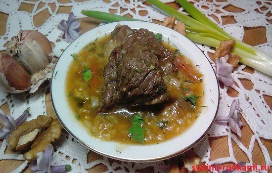 Рецепт приготовления суп харчо с и пошагово
