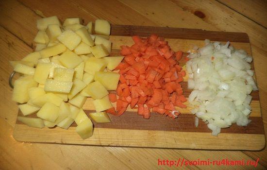 Нарезаем овощи кубиком