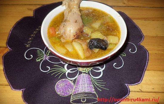 Куриный соус с грибами готов