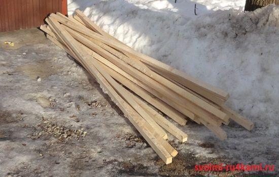 Деревянный брус 50х50