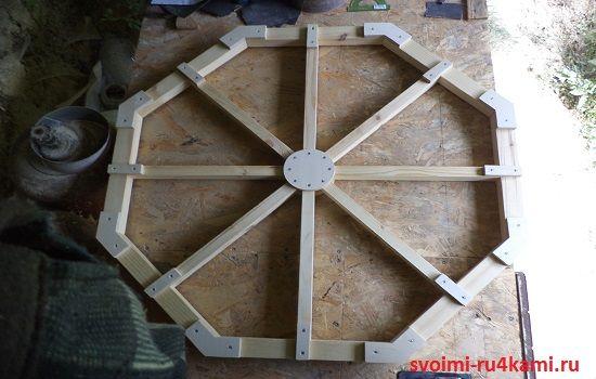 Деревянное колесо готово