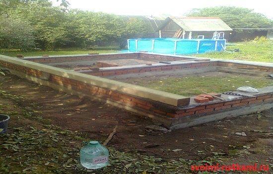 Готовый фундамент под баню