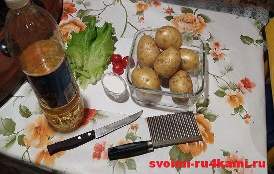 Ингредиенты для картошки фри