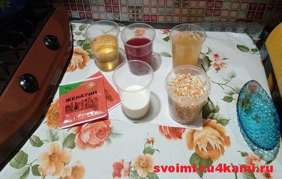 Ингредиенты для многослойного желе