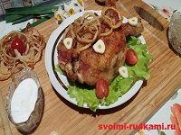 Жареные окорочка на сковороде рецепт