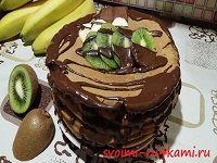 Блинный шоколадный торт без выпечки рецепт