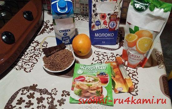 Ингредиенты для паннакотты