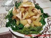 Жареная картошка с куриной грудкой рецепт